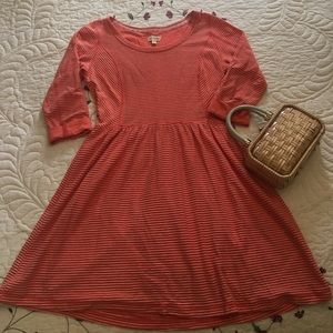 Maison Jules Orange and White Striped Dress M